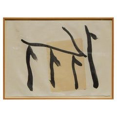 """Robert Motherwell Lithograph with Chine Applique, """"Rite of Passage lll"""""""