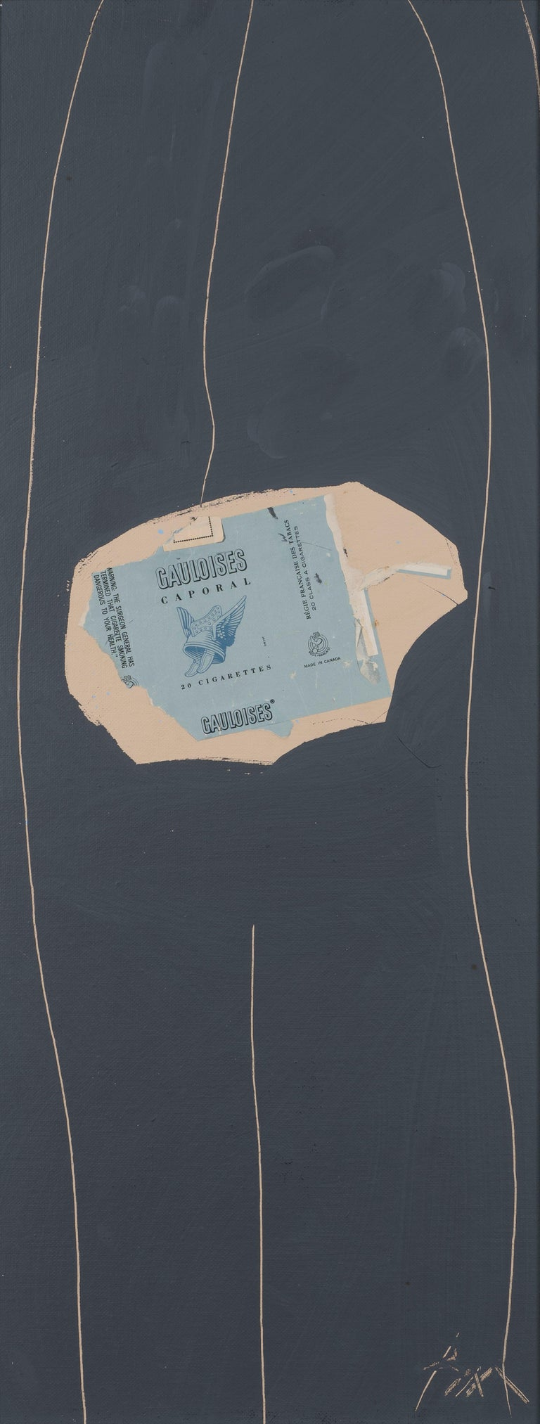 Gauloises on Grey No. 29 by ROBERT MOTHERWELL - Collage, Acrylic, Contemporary - American Modern Mixed Media Art by Robert Motherwell