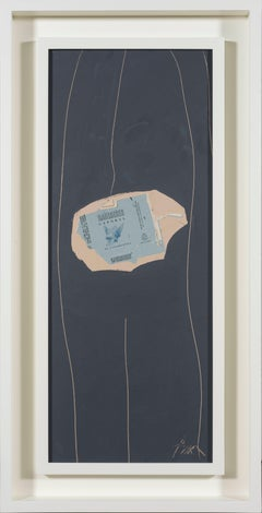 Gauloises on Grey No. 29 by ROBERT MOTHERWELL - Collage, Acrylic, Contemporary
