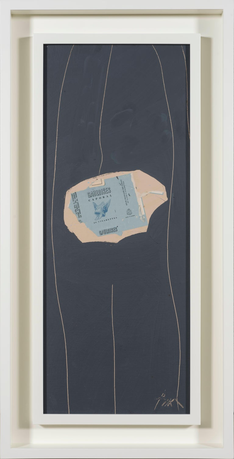 Gauloises on Grey No. 29 by ROBERT MOTHERWELL - Collage, Acrylic, Contemporary - Mixed Media Art by Robert Motherwell