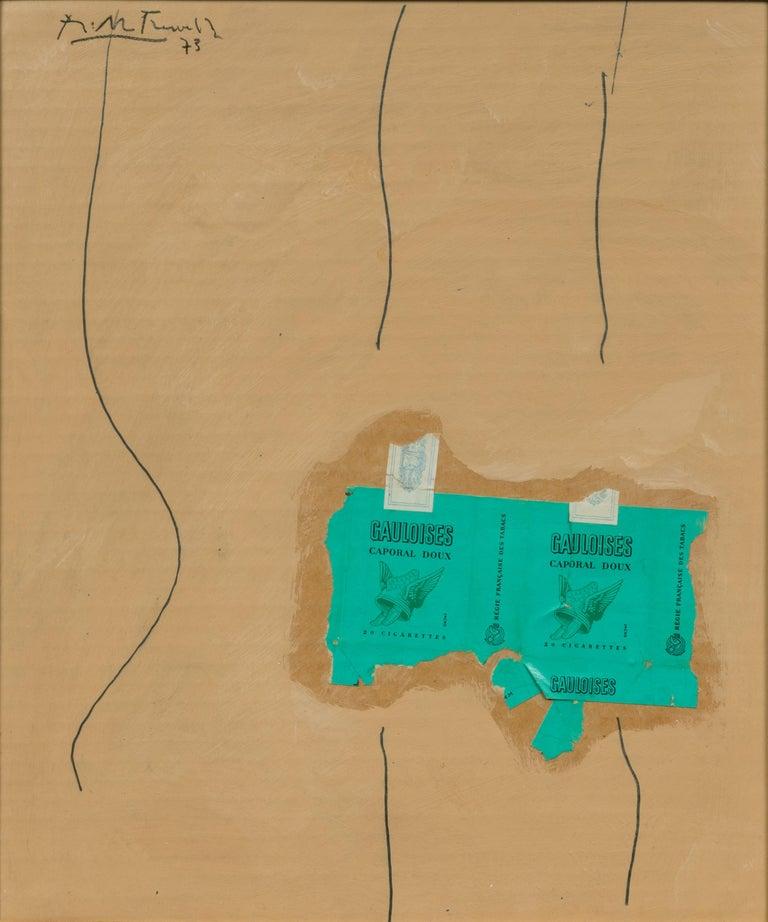 Green Gauloises - Mixed Media Art by Robert Motherwell