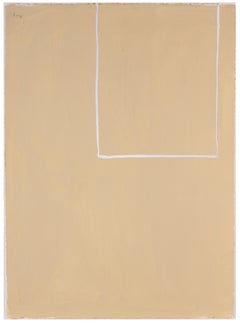 Open Study (White Line on Beige No. 1)