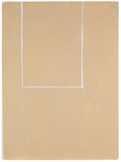 Open Study (White Line on Beige No. 2)