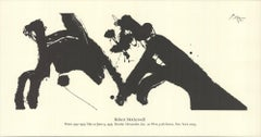 1979 After Robert Motherwell 'Dance I' USA Etching