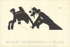 1979 'Robert Motherwell & Black' Contemporary USA Etching
