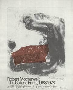 1979 After Robert Motherwell 'The Collage Prints, 1968-1978' Offset Lithograph