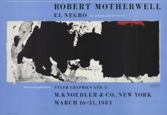 1983 After Robert Motherwell 'Black with No Way Out' Offset Lithograph