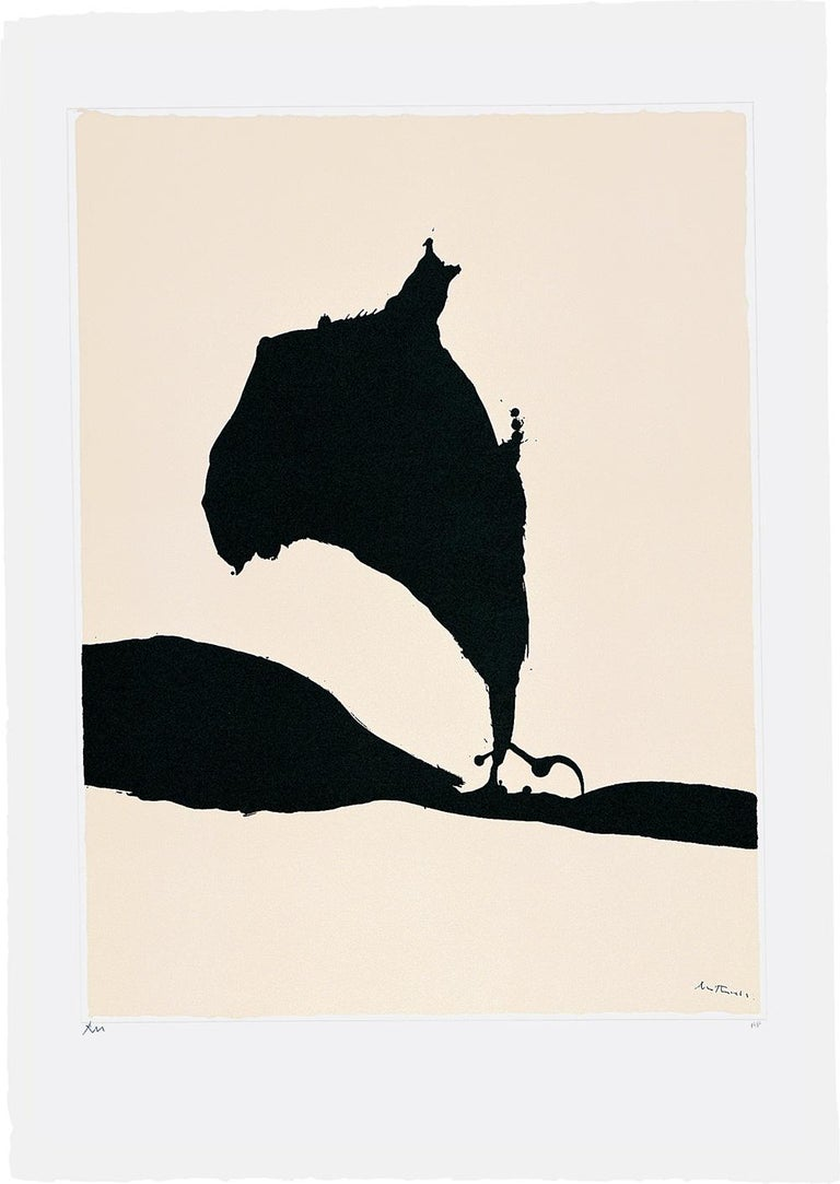 Robert Motherwell Abstract Print - Africa Suite: Africa 9