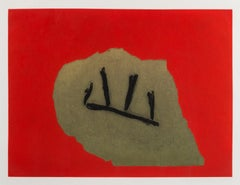 Australian Stone -- Aquatint, Handmade Paper, Etching by Robert Motherwell