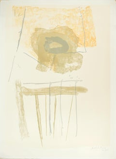 Chair - Original Lithograph by Robert Motherwell - 1972