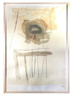 Chair - Original Lithograph by Robert Motherwell - 1972