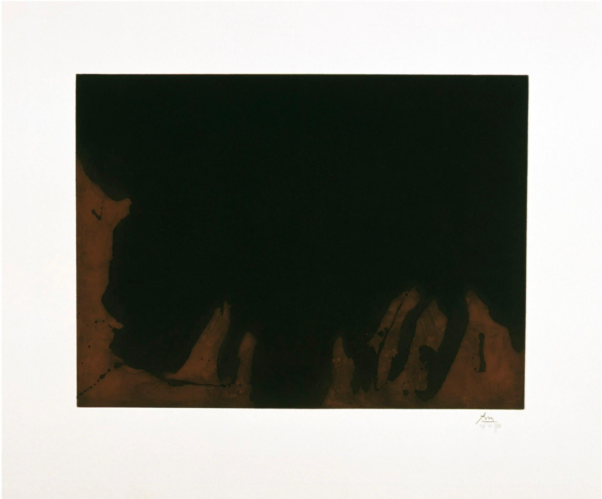 """""""Delta"""" Robert Motherwell Limited Edition Print in Black and Brown"""