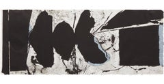 Elegy Black Black, a beautiful lithography from Motherwell's elegy series