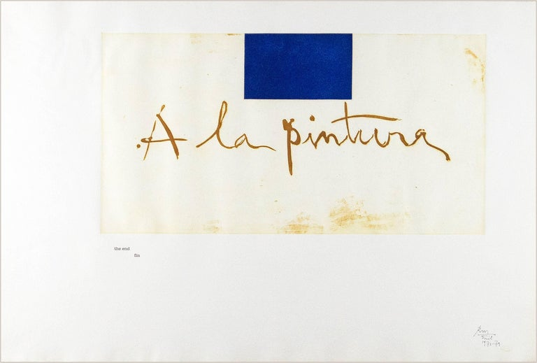 "Robert Motherwell Figurative Print - Frontispiece from"" A la Pintura"""