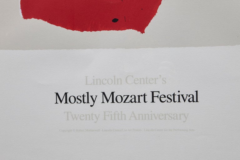 Lincoln Center's Mostly Mozart Festival - 25th Anniversary - Gray Abstract Print by Robert Motherwell