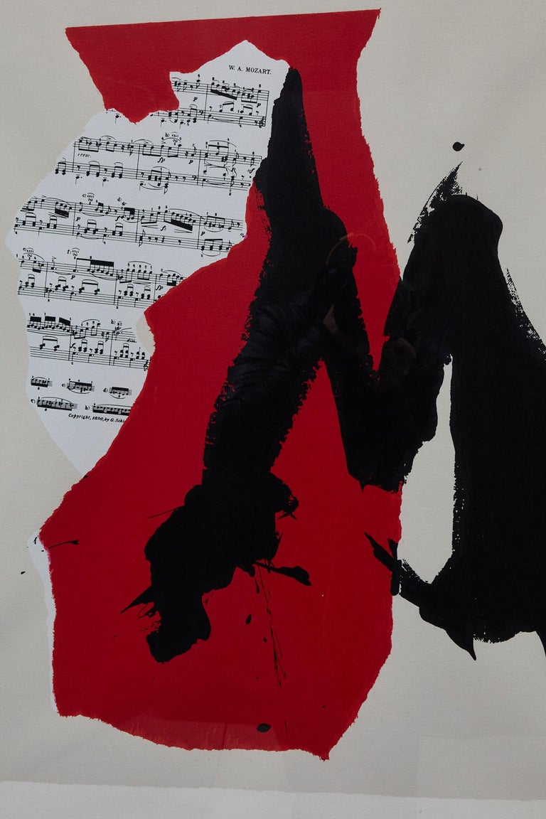 Robert Motherwell, American (1915 - 1991) Lincoln Center's Mostly Mozart Festival, 25th Anniversary. Lithograph, Edition of 800, unsigned and unnumbered. Framed. Printer: Trestle Editions Ltd, NY - Publisher: Artist Measurements: Frame H 42.38 x W