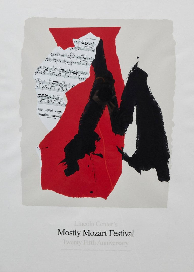 Robert Motherwell Abstract Print - Lincoln Center's Mostly Mozart Festival - 25th Anniversary