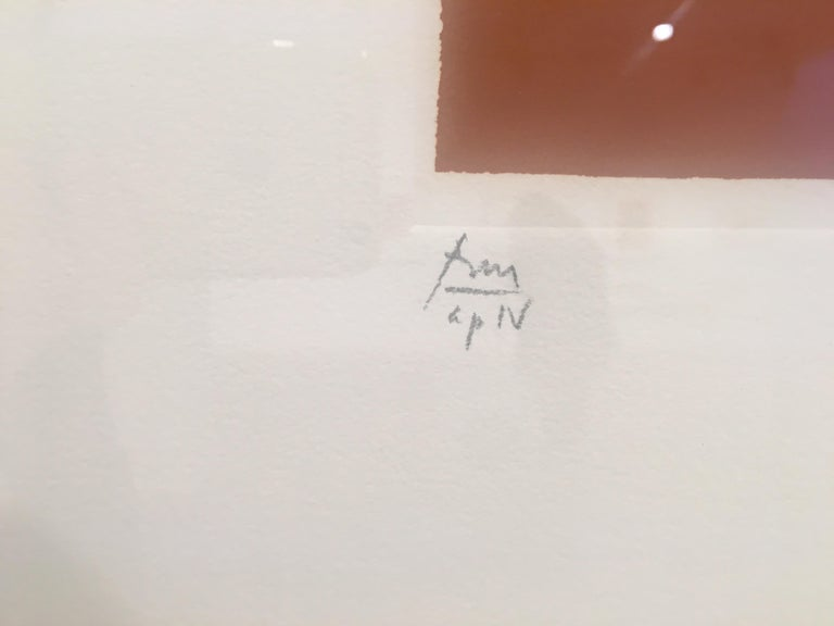 Robert Motherwell Paris Suite III (Autumn) 1980 Lithograph on J.B. Green handmade paper, Edition of 60 49.2 x 56.8 cms (19 1/2 x 22 1/2 ins) RM17035  CR 266  Signature:Signed