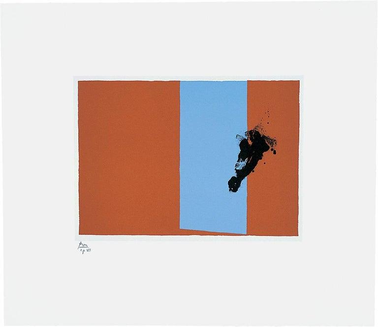 Robert Motherwell Abstract Print - Paris Suite 3 (Autumn)