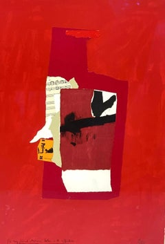 """""""Redness of Red"""" Lithograph Screenprint Collage Contemporary Abstract Abex 1/100"""