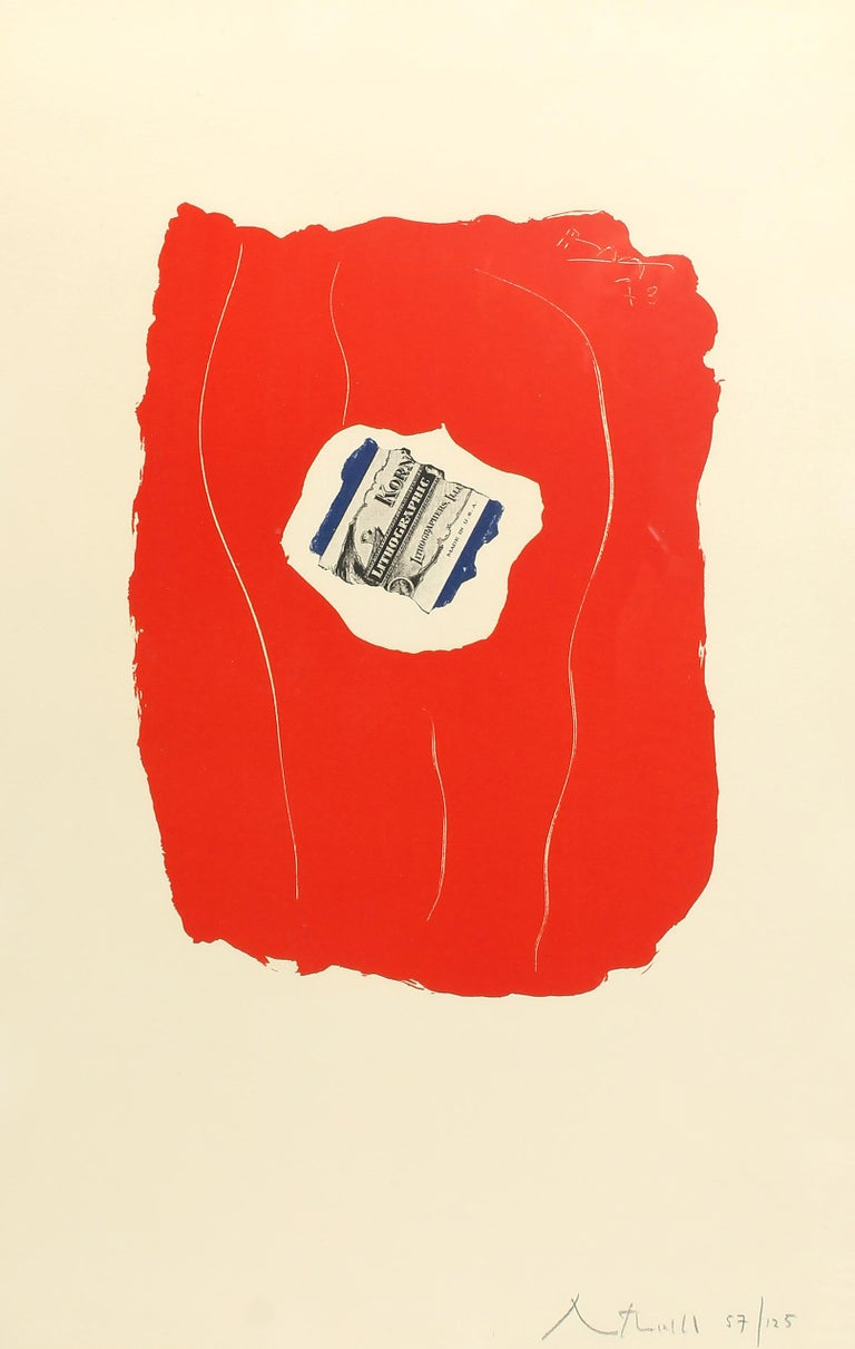 Robert Motherwell Tricolor 137 Original Lithograph Signed Numbered - Abstract Expressionist Print by Robert Motherwell