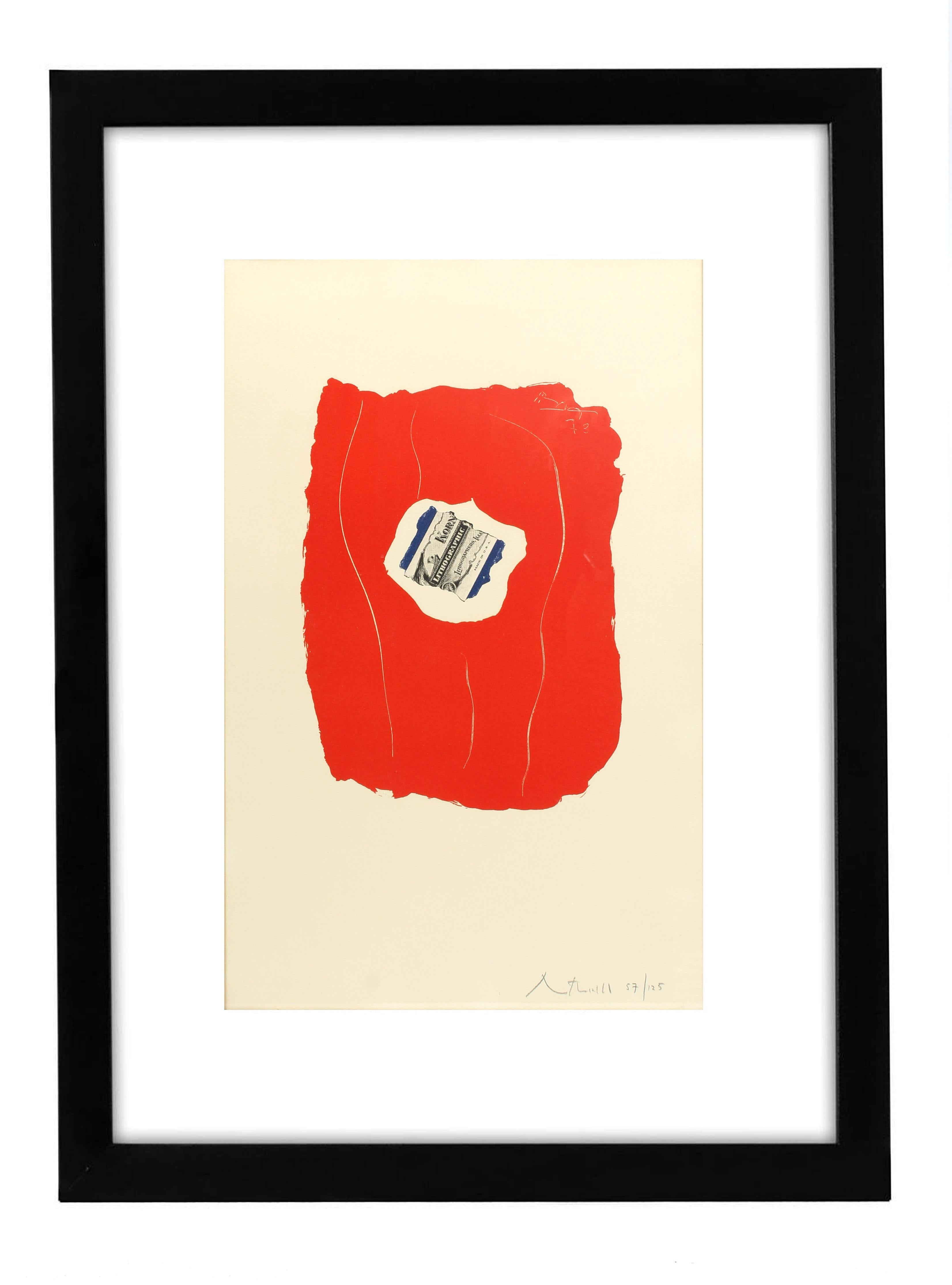 Robert Motherwell Tricolor 137 Original Lithograph Signed Numbered