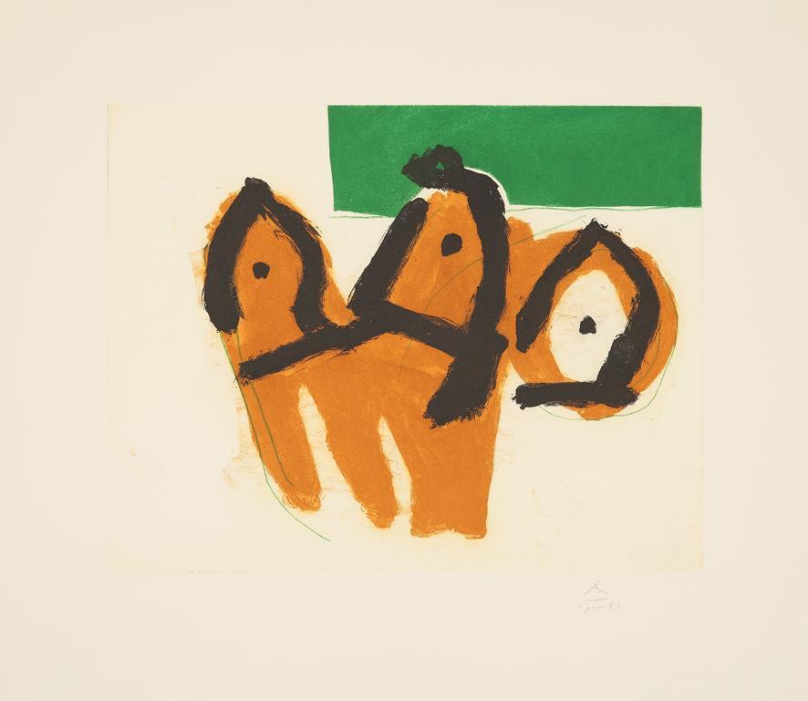 Sirens II - 20th Century, Robert Motherwell, Figurative, Print, Expressionist