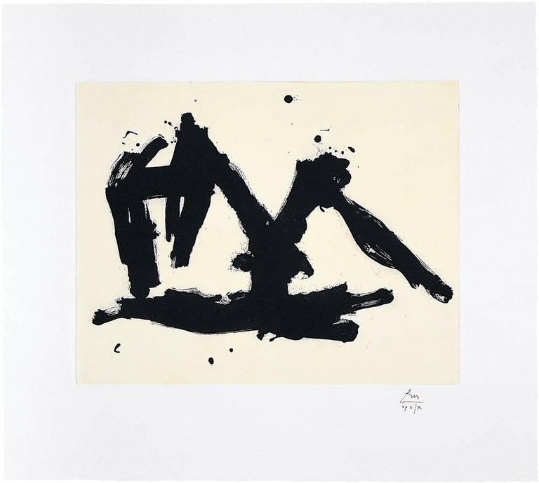 Robert Motherwell Abstract Print - Stephen's Iron Crown Etched