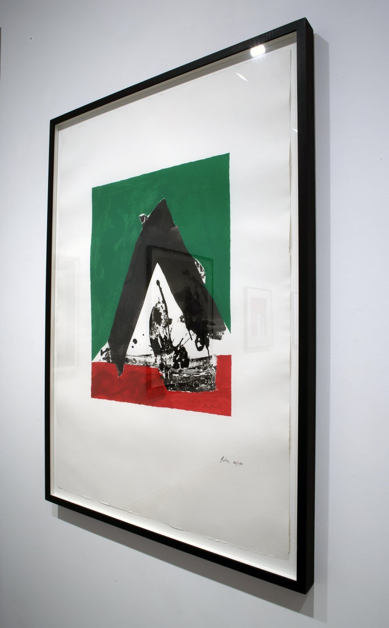 The Basque Suite: Untitled - Gray Print by Robert Motherwell