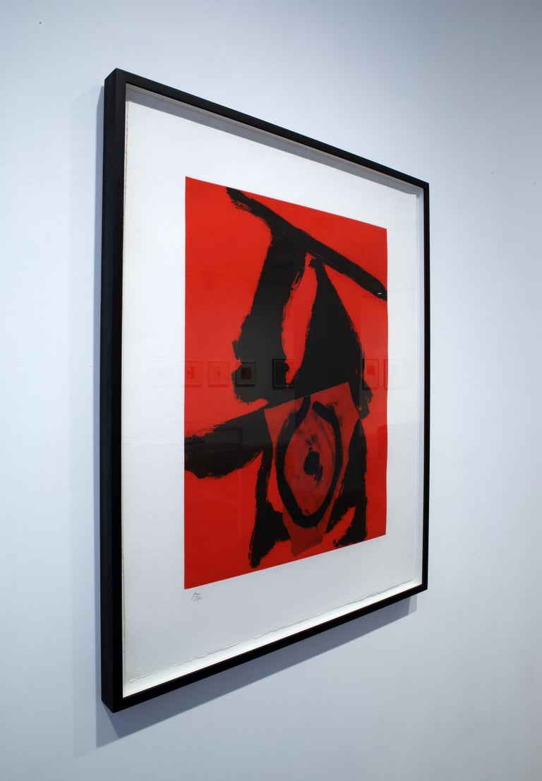 The Red Queen - Abstract Expressionist Print by Robert Motherwell