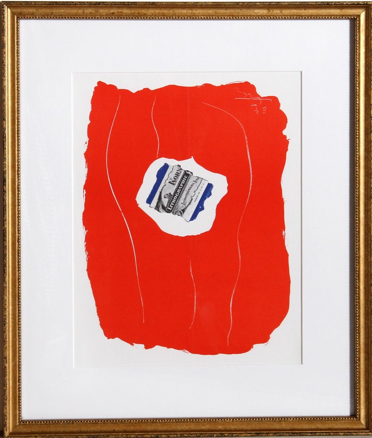 Robert Motherwell Abstract Print - Tricolor 137