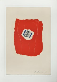 Tricolor - Original Lithograph and Offset by Robert Motherwell - 1973