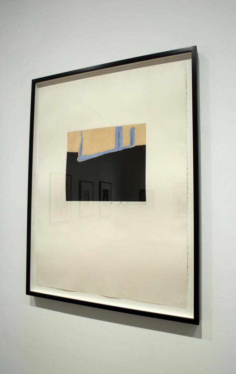 Untitled - Gray Abstract Print by Robert Motherwell