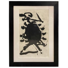 Robert Motherwell Signed Limited Edition Large Aquatint Etching Blackened Sun