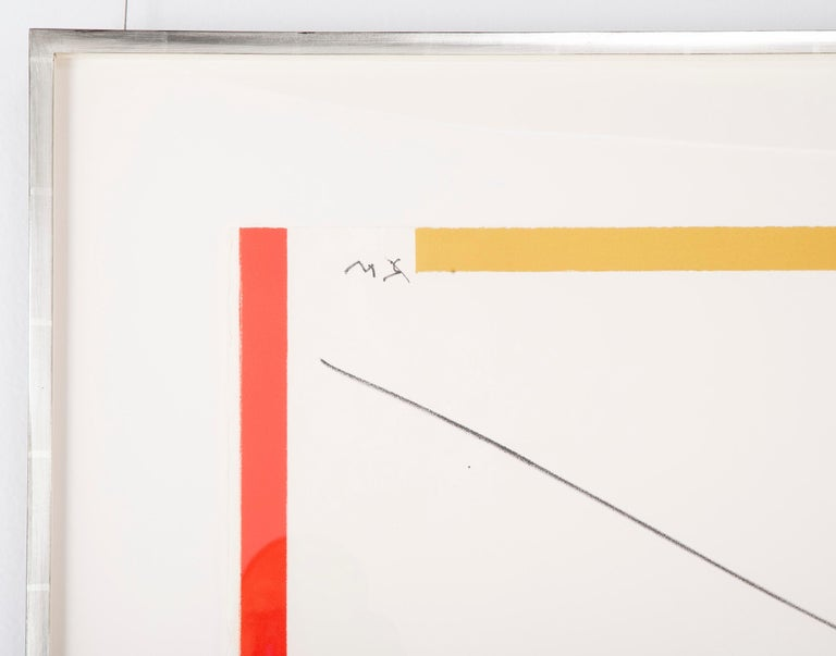 Modern Robert Motherwell, West Islip, Lithograph with Hand Painting, 1970 For Sale