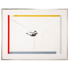 Robert Motherwell, West Islip, Lithograph with Hand Painting, 1970
