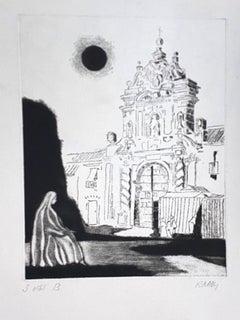 Portal - Original Etching by Robert Naly - 1950s