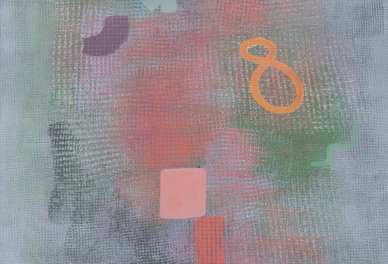 American Robert Natkin Abstract Lithograph with 'N' and Floating '8'