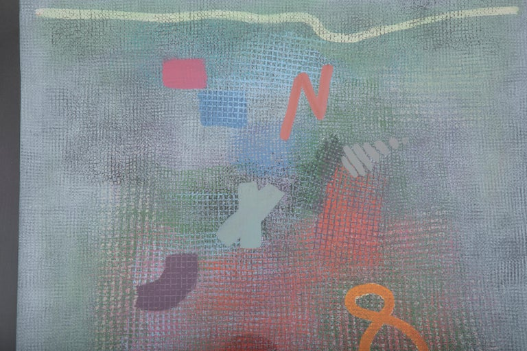Robert Natkin Abstract Lithograph with 'N' and Floating '8' In Good Condition In Stamford, CT