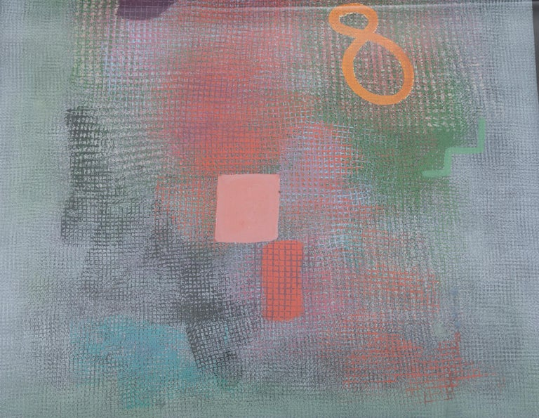 Paper Robert Natkin Abstract Lithograph with 'N' and Floating '8'