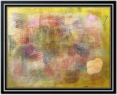 Robert Natkin Original Acrylic Painting On Canvas Signed Modern Abstract Artwork