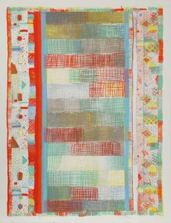 Colorful Abstract Lithograph by Robert Natkin
