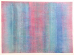 Colorful Abstract Silkscreen by Robert Natkin