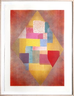 Large Colorful Abstract Silkscreen by Robert Natkin