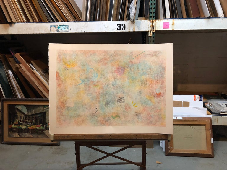 Large Natkin Abstract Expressionist Colorful Silkscreen Screenprint Lithograph For Sale 8
