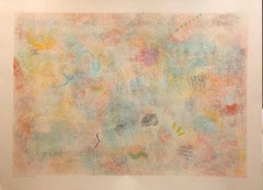 Large Natkin Abstract Expressionist Colorful Silkscreen Screenprint Lithograph