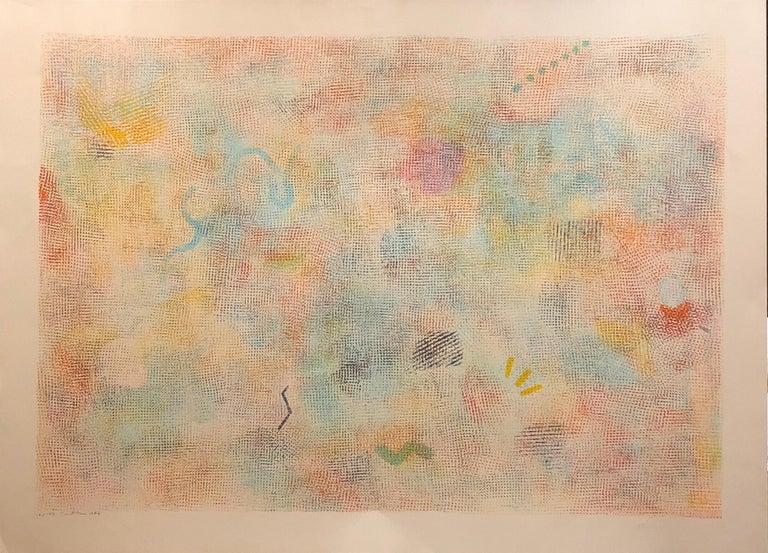 Large Natkin Abstract Expressionist Colorful Silkscreen Screenprint Lithograph - Print by Robert Natkin