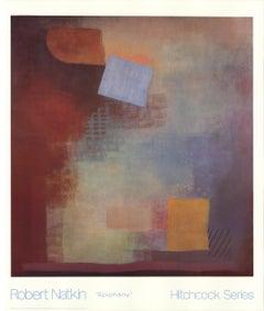 "ROBERT NATKIN Epiphany 46.75"" x 39.75"" Offset Lithograph 1989 Abstract"