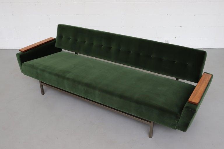 Velvet Robert Parry Attributed Mid-Century Sleeper Sofa For Sale