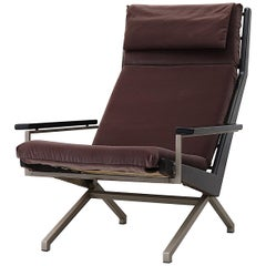 Robert Parry Lounge Chair in Grey Velvet